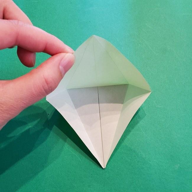 折り紙の【竹の葉】折り方 (15)
