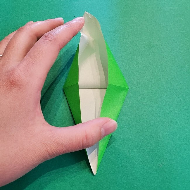 折り紙の【竹の葉】折り方 (16)