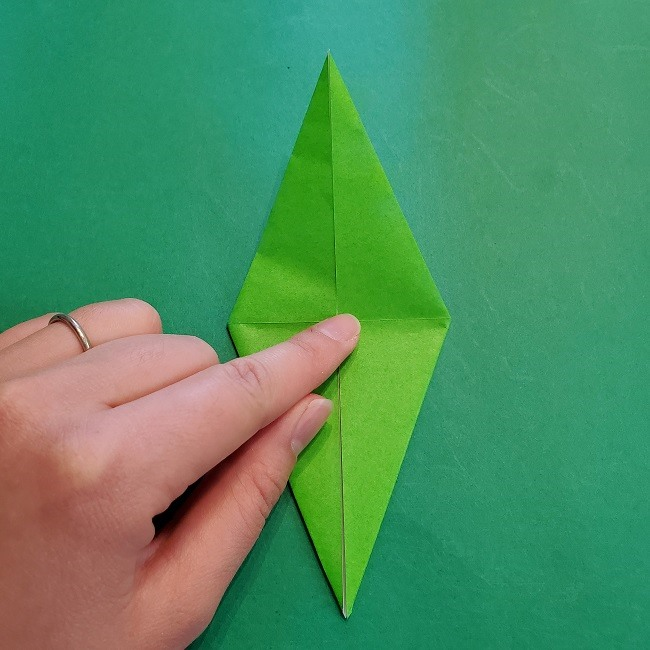 折り紙の【竹の葉】折り方 (17)