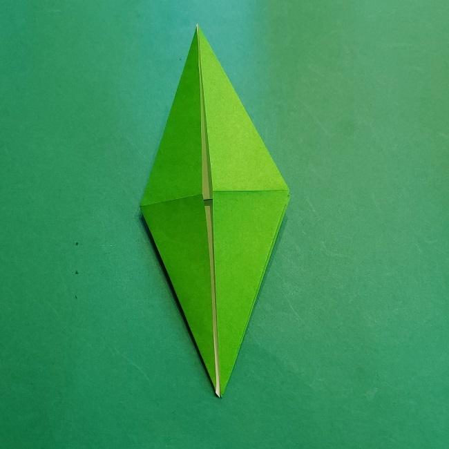 折り紙の【竹の葉】折り方 (18)
