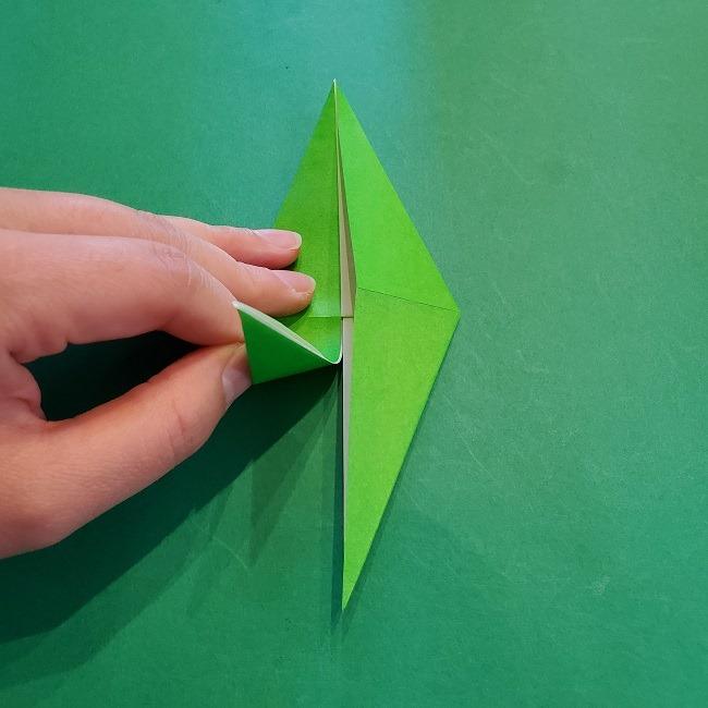 折り紙の【竹の葉】折り方 (19)