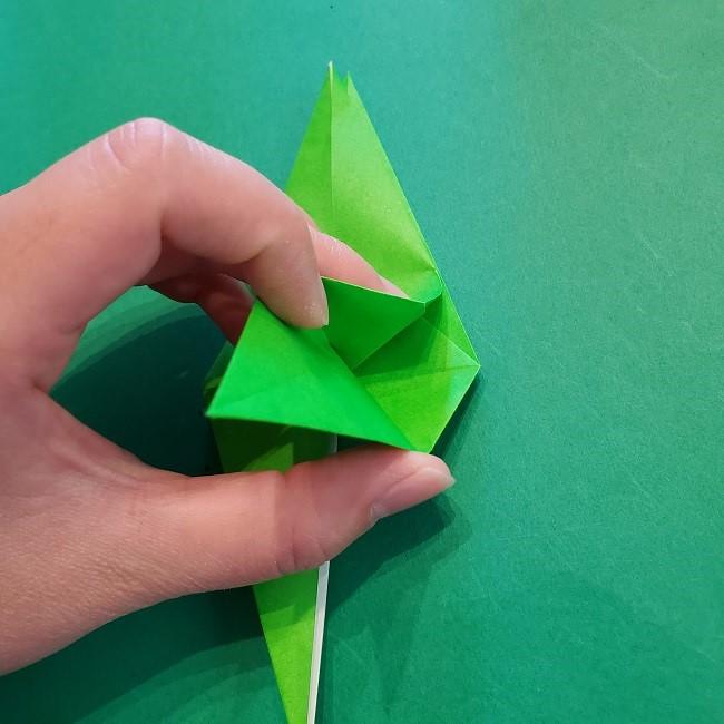 折り紙の【竹の葉】折り方 (20)