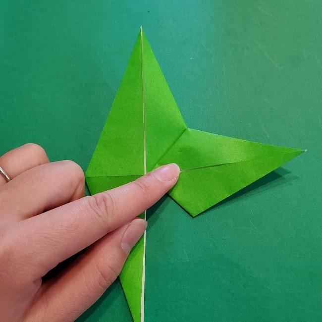 折り紙の【竹の葉】折り方 (21)