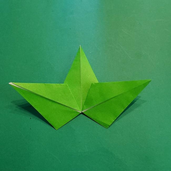 折り紙の【竹の葉】折り方 (22)