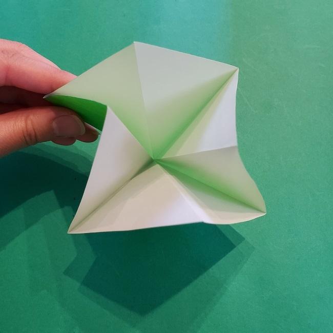 折り紙の【竹の葉】折り方 (9)