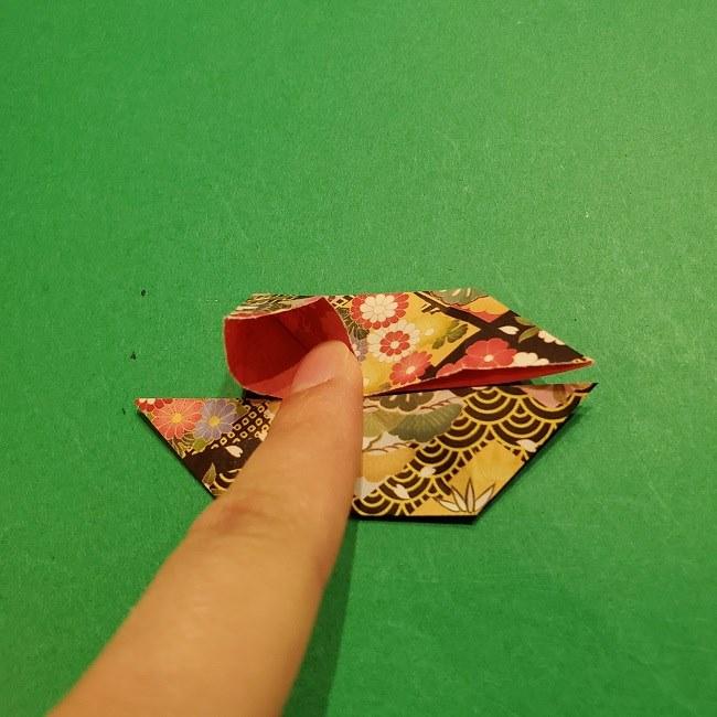 折り紙のくす玉(お正月)折り方・作り方 (15)