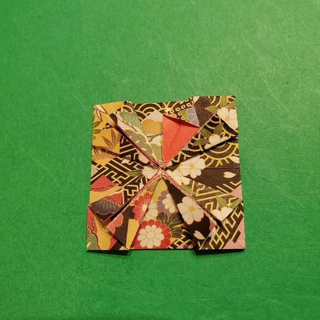 折り紙のくす玉(お正月)折り方・作り方 (21)