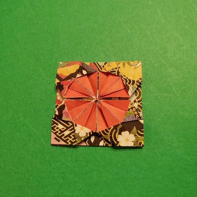 折り紙のくす玉(お正月)折り方・作り方 (22)