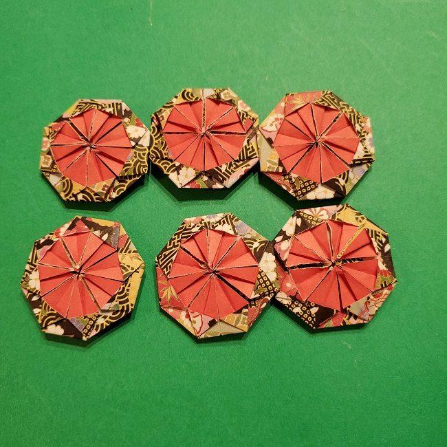 折り紙のくす玉(お正月)折り方・作り方 (26)
