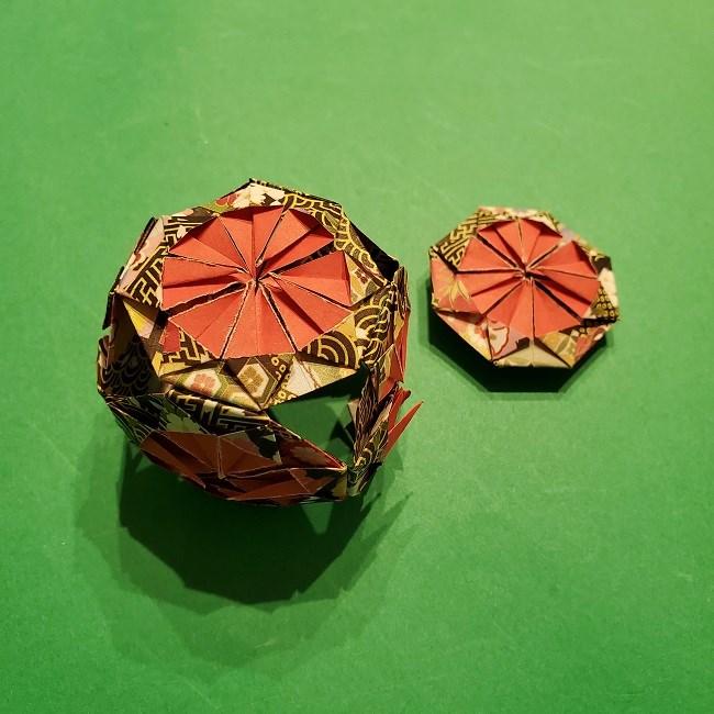 折り紙のくす玉(お正月)折り方・作り方 (30)