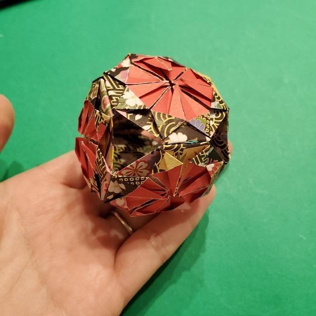 折り紙のくす玉(お正月)折り方・作り方 (31)