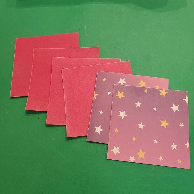 折り紙のくす玉は簡単♪6枚でつくる作り方【用意するもの】 (1)