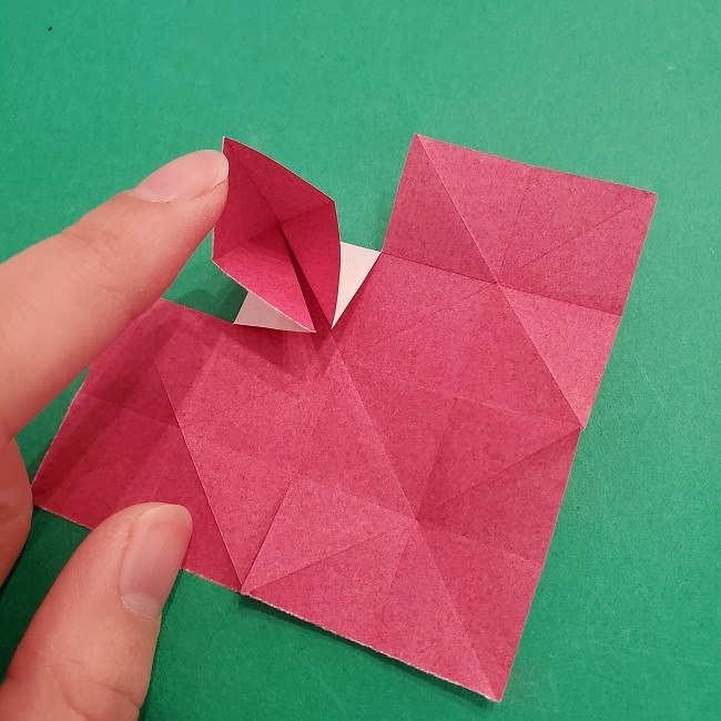 折り紙のくす玉(ハート・ミニサイズ)作り方 (12)