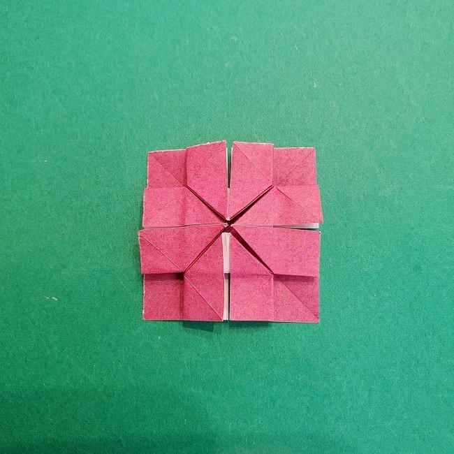 折り紙のくす玉(ハート・ミニサイズ)作り方 (22)