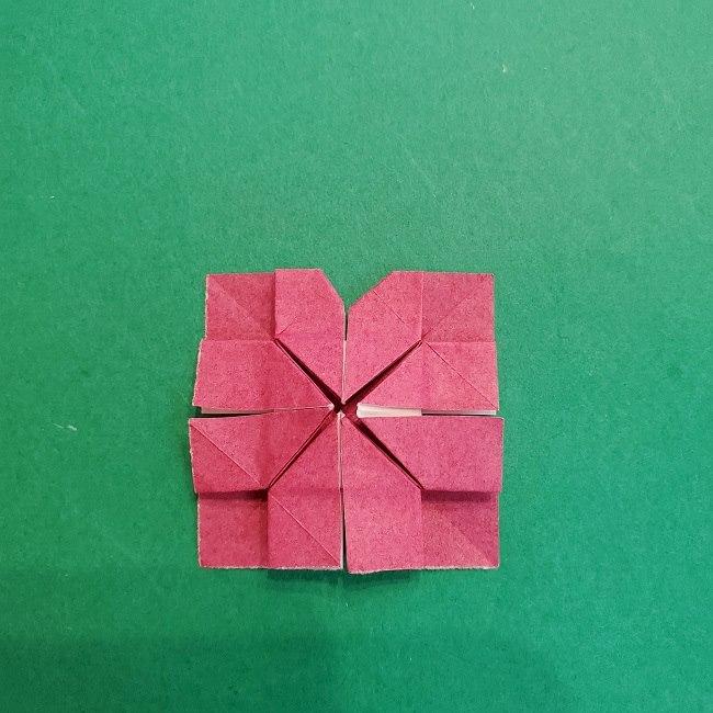 折り紙のくす玉(ハート・ミニサイズ)作り方 (23)