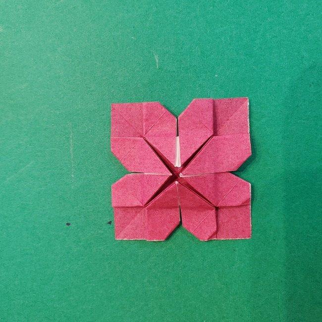 折り紙のくす玉(ハート・ミニサイズ)作り方 (24)
