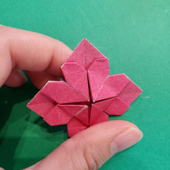折り紙のくす玉(ハート・ミニサイズ)作り方 (25)