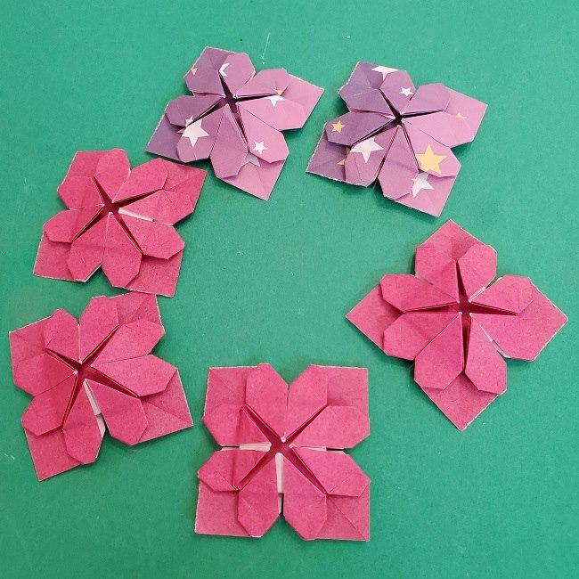 折り紙のくす玉(ハート・ミニサイズ)作り方 (27)