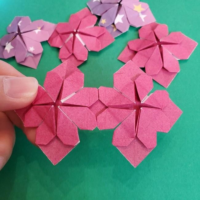 折り紙のくす玉(ハート・ミニサイズ)作り方 (28)