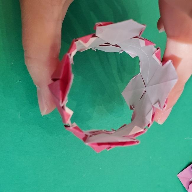 折り紙のくす玉(ハート・ミニサイズ)作り方 (29)