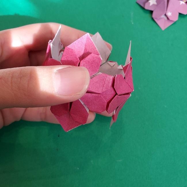 折り紙のくす玉(ハート・ミニサイズ)作り方 (30)