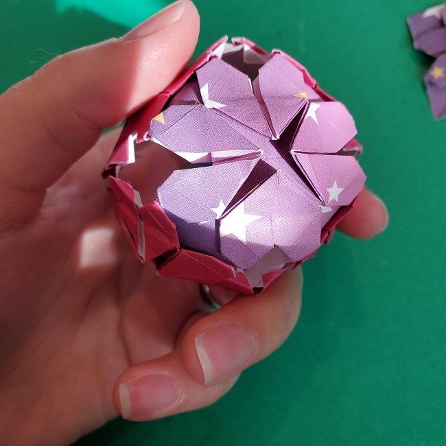 折り紙のくす玉(ハート・ミニサイズ)作り方 (31)