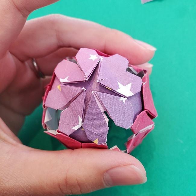 折り紙のくす玉(ハート・ミニサイズ)作り方 (32)