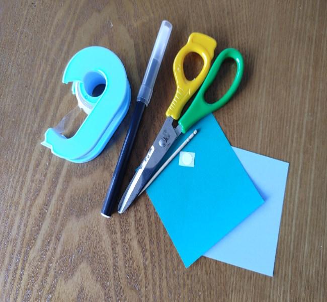 折り紙のイワシ*必要なもの