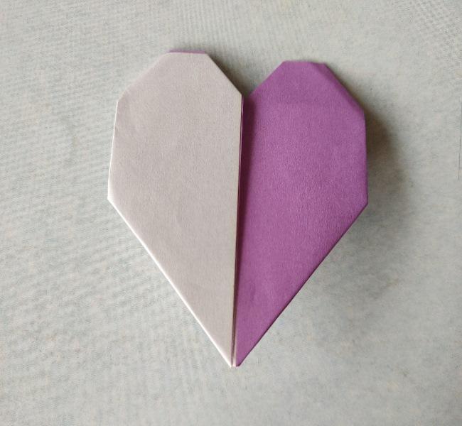 折り紙のハート(二色)の折り方★カラフルでかわいい簡単な作り方を紹介!