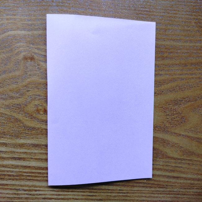 折り紙のハート(二色)の折り方・作り方 (1)