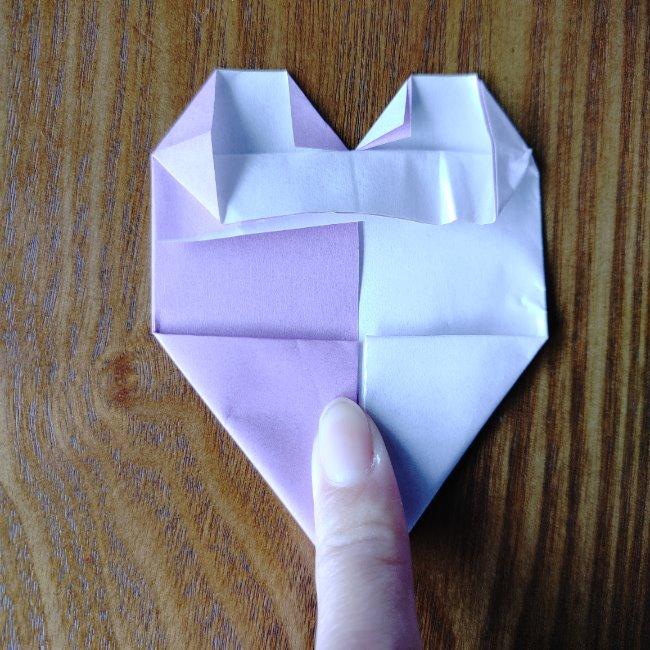 折り紙のハート(二色)の折り方・作り方 (10)