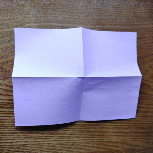 折り紙のハート(二色)の折り方・作り方 (3)