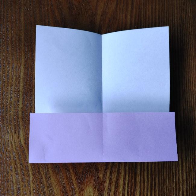 折り紙のハート(二色)の折り方・作り方 (4)
