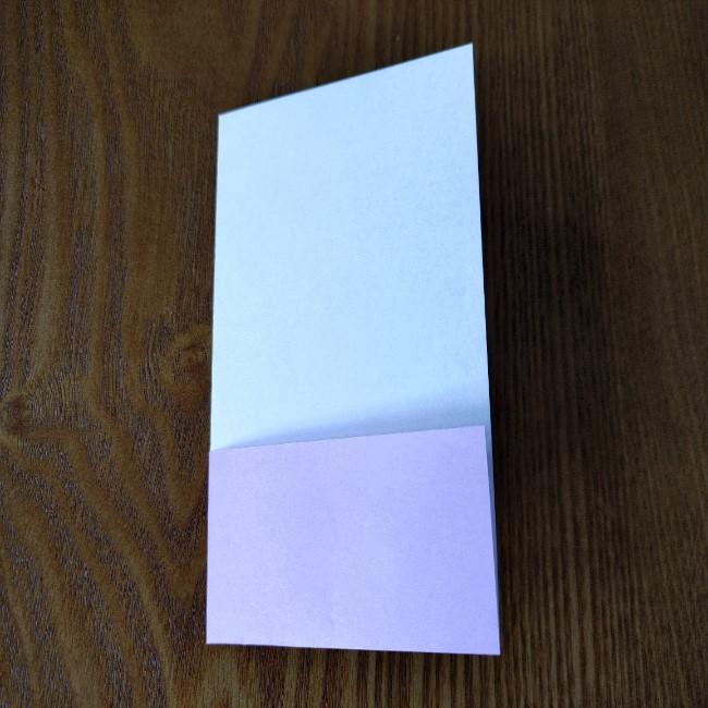 折り紙のハート(二色)の折り方・作り方 (5)