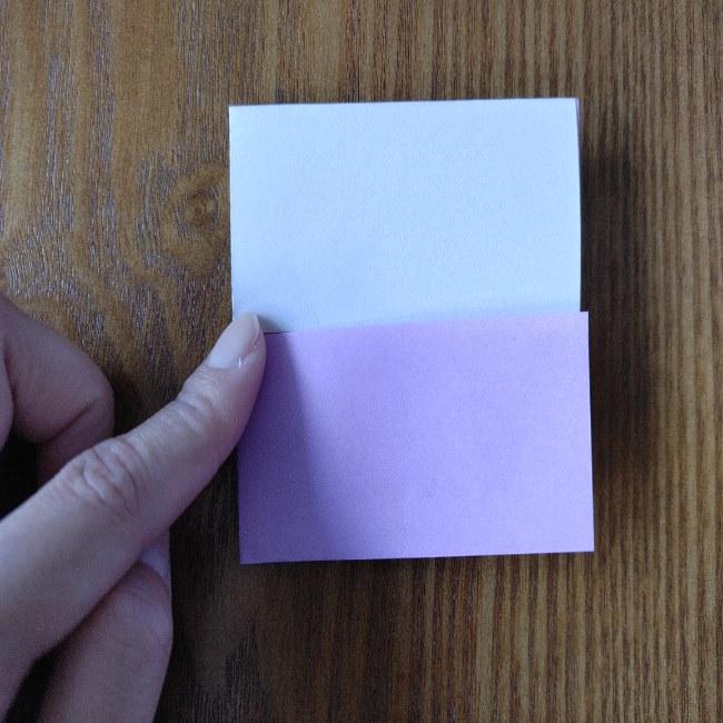 折り紙のハート(二色)の折り方・作り方 (6)