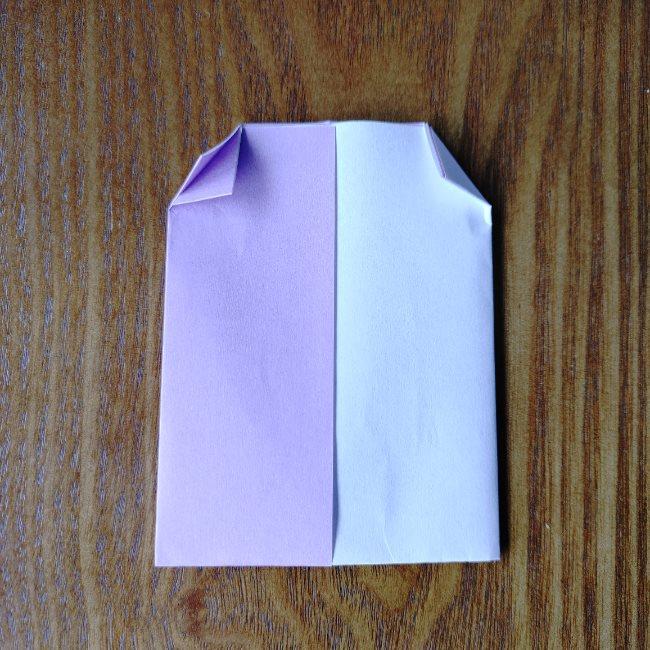 折り紙のハート(二色)の折り方・作り方 (7)