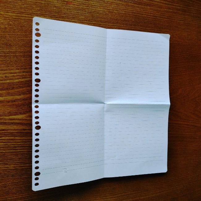 折り紙のハート(長方形から)の折り方・作り方 (3)