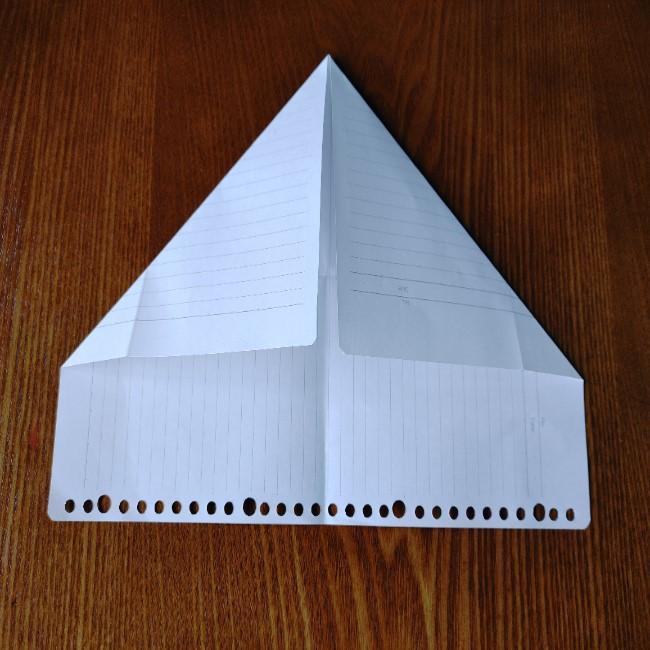 折り紙のハート(長方形から)の折り方・作り方 (4)