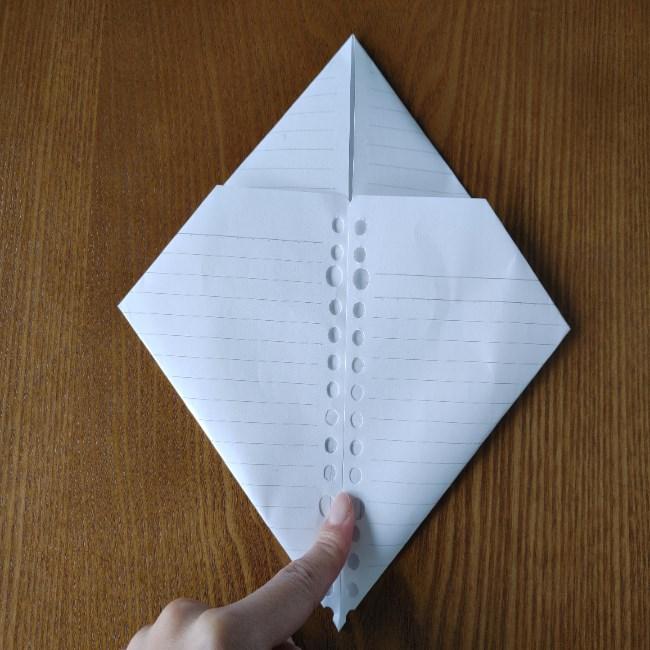 折り紙のハート(長方形から)の折り方・作り方 (5)