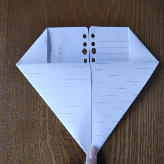 折り紙のハート(長方形から)の折り方・作り方 (6)