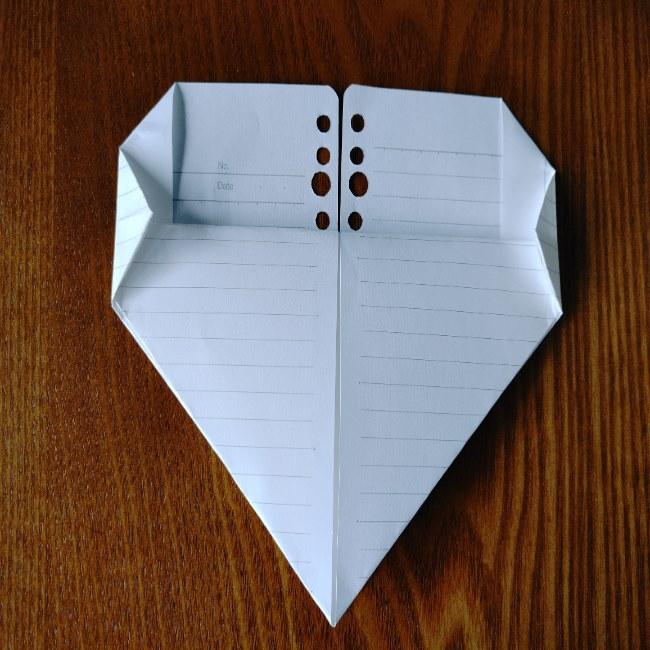 折り紙のハート(長方形から)の折り方・作り方 (7)