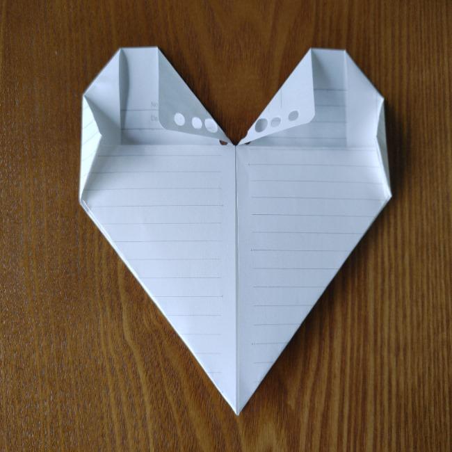 折り紙のハート(長方形から)の折り方・作り方 (8)