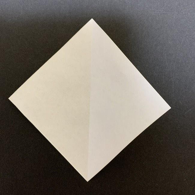 折り紙のプレゼントボックス(平面):折り方作り方 (1)