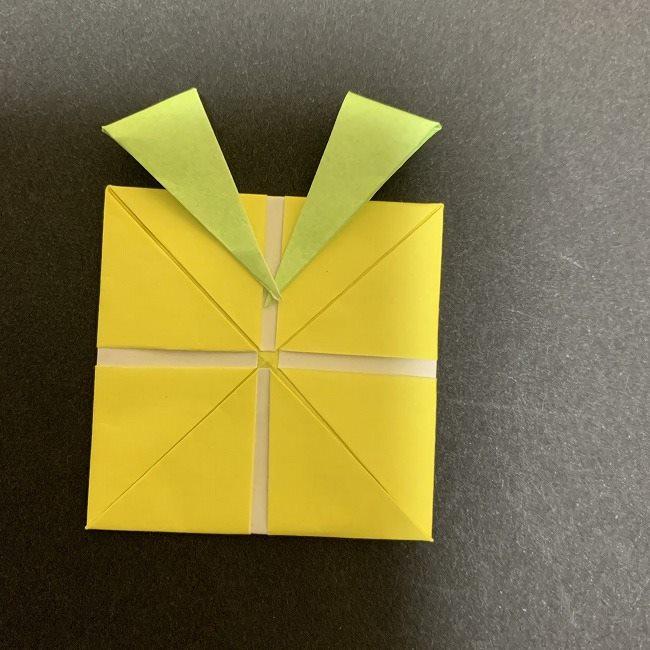 折り紙のプレゼントボックス(平面):折り方作り方 (15)