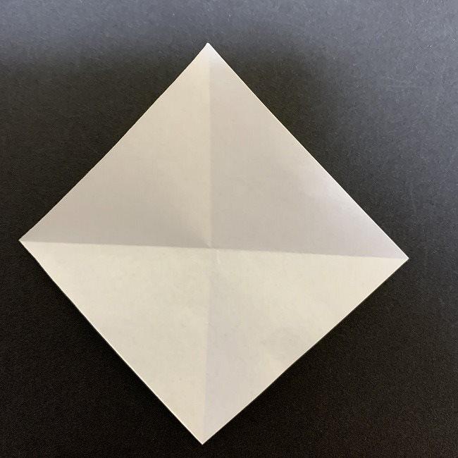 折り紙のプレゼントボックス(平面):折り方作り方 (2)