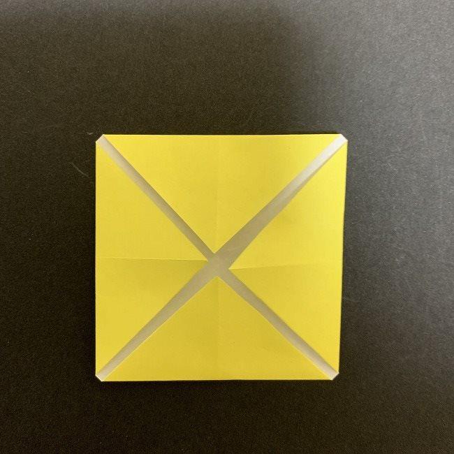 折り紙のプレゼントボックス(平面):折り方作り方 (4)