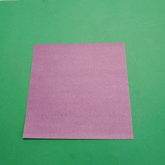 折り紙の椿(平面)の折り方・作り方(1)