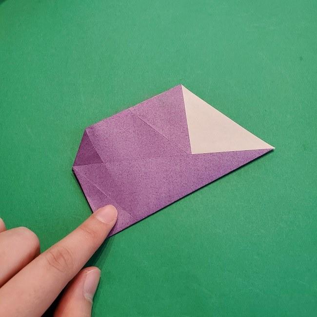 折り紙の椿(平面)の折り方・作り方(12)