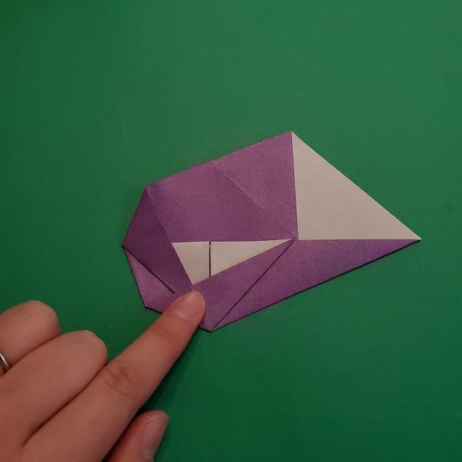 折り紙の椿(平面)の折り方・作り方(13)