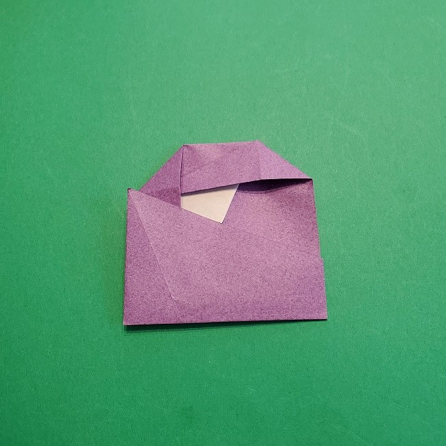 折り紙の椿(平面)の折り方・作り方(14)